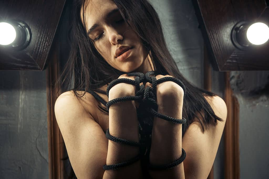 Bei privaten Bondage Sessions sind die Fesselspiele meistens harmlos